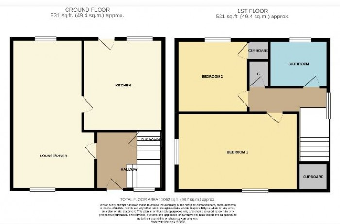 Floorplans For Catacol Avenue, Saltcoats